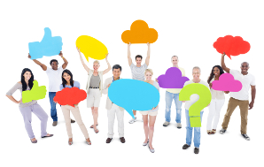 http://www.dreamstime.com/stock-image-group-people-sharing-ideas-holding-social-media-icons-image37441731